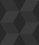 Red 3d cubes with embossed dots seamless pattern