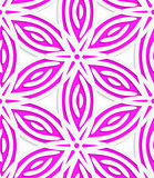 White and pink geometrical flowers seamless pattern