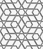 White geometrical detailed on gray seamless pattern