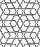 White geometrical detailed on gray seamless pattern