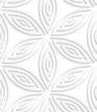 White geometrical flower like shapes seamless pattern