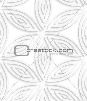White geometrical flower like shapes seamless pattern