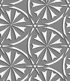 White geometrical flowers and stars seamless pattern