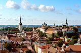 View of the old town Tallinn, Estonia