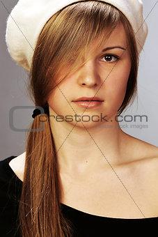 Portrait of the girl in studio