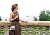 Beautiful girl on the balcony
