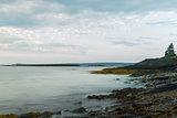 Ocean shore in the morning (Slow shutter speed)