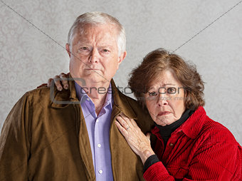 Serious Older Couple