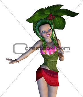 3D Floral Fairy