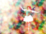 Fairy on Bokeh background