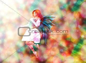 Fairy on Bokeh background