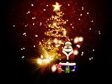 Santa Claus congratulateing