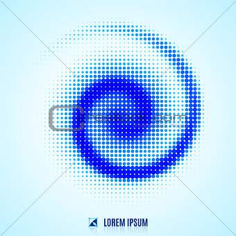 abstract background with spiral vortex