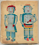 Vintage Robot Couple