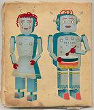 Vintage Robot Couple