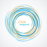 Abstract circle bright background