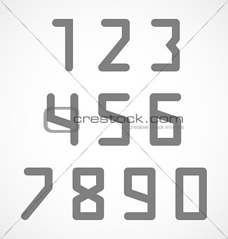 Abstract digital geometric numbers set