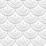 White paper circles seamless pattern