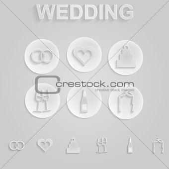 Gray icons for wedding