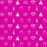 Pink background for wedding