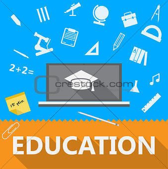 Flat illustration of education