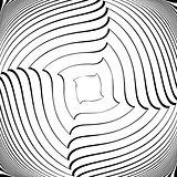 Design monochrome vortex illusion background