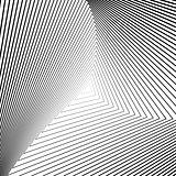 Design monochrome triangle illusion background