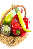 Basket with vegetables.