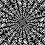 Monochrome abstract decorative spiral background
