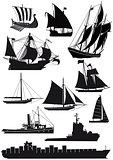 Ships and sailing ships