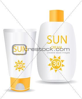 glossy sunblock creams