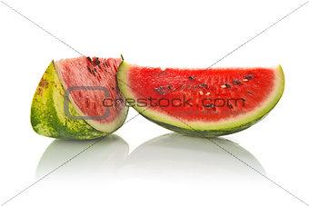Watermelon Slice on White Background