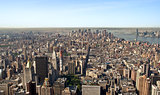 Panoramic view Midtown and downtown of manhattan