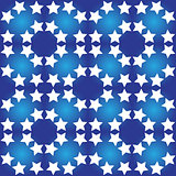 Seamless pattern with white stars