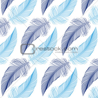 feather seamless pattern, vector