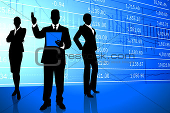 Business Team on Stock Market Background