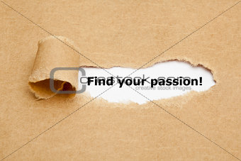 Find your passion Torn Paper