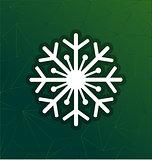 snowflake merry christmas