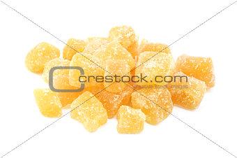 Cubes of crystallised stem ginger