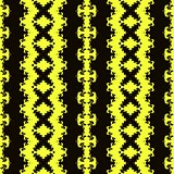 Seamless geometric pattern in a black - yellow colors