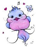 Blue Bird. Watercolor