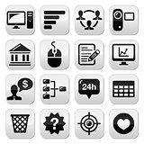 Website menu navigation black vector buttons set