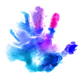 Watercolor hand print