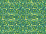 seamless green vertical floral background in retro style