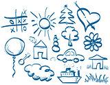 Hand drawing symbols