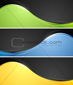 Abstract wavy vector banners