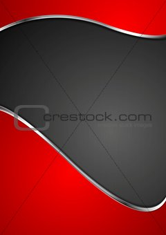 Abstract wavy template. Metallic style