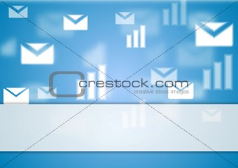Abstract blurred tech background