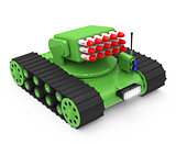 tank with rockets