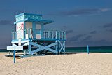 Lifeguard hut on Haulover Park Beach in Florida